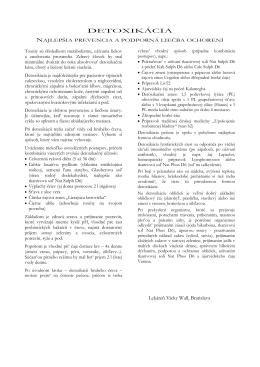 DETOXIKÁCIA - Lekáreň Vicky Wall