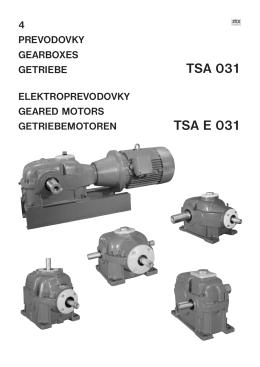 Katalóg TSA 031 - ZTS Sabinov, as