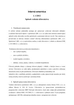 Interná smernica