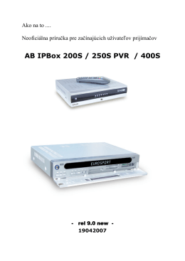Verzie Image pre AB IPBox 200S /250S PVR /400S