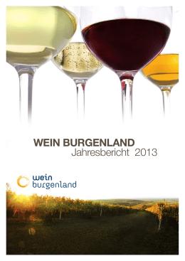 WEIN BURGENLAND Jahresbericht 2013