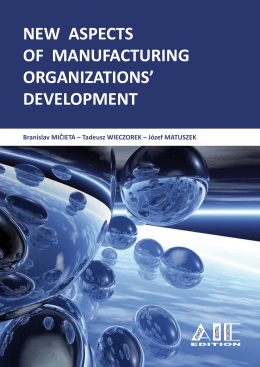 new aspects of manufacturing organizations` development