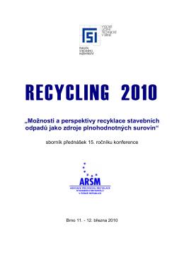 Sborník konference RECYCLING 2010