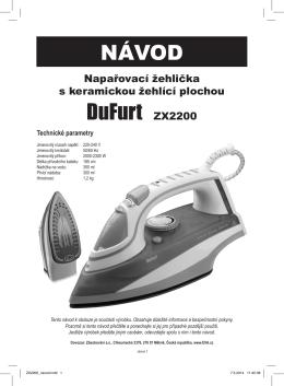 NÁVOD DuFurt ZX2200 - T