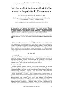 Návrh a realizácia riadenia flexibilného montážneho