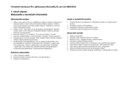 Aplikovaná informatika – bakalárske štúdium (denná a externá forma)