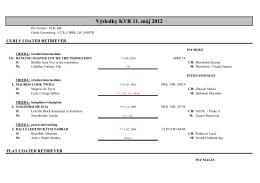 Výsledky KVR 11. máj 2012