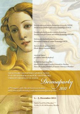 Program DERMAPARTY 2011 nájdete tu