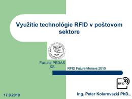 Charakteristika technológie RFID