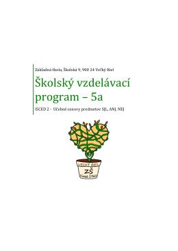 Školský vzdelávací program – 5a