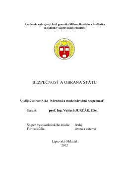 Študijný program BaOS