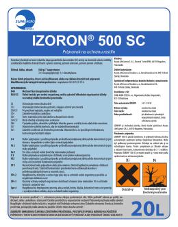 Etiketa IZORON 500 SC