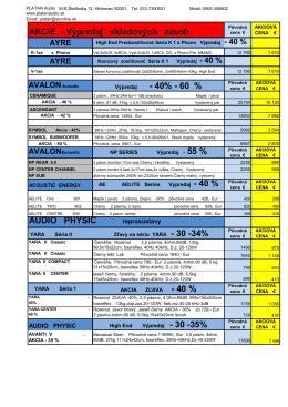AKCIE - Výpredaj skladových zásob AUDIO PHYSIC
