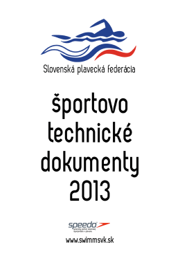 Športovo-technické dokumenty 2013