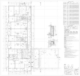 Technický výkres - Sekcia A, Poschodie 4