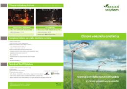 Obnova verejného osvetlenia