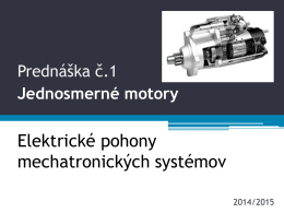 PR1 Jednosmerné motory