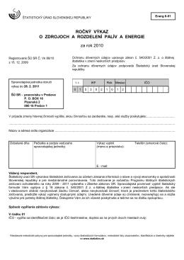 Energ 6-01 - Štatistický úrad SR