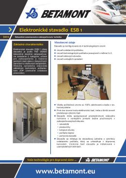 Elektronické stavadlo ESB 1