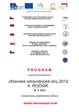 Duben -PROGRAM KONFERENCE - 2012