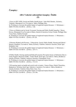 ABA Vedecké zahraničné časopisy: Štúdie (5)