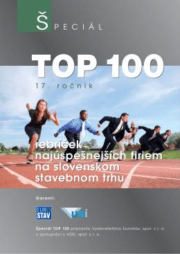 rebríček najúspešnejších firiem na slovenskom stavebnom trhu