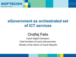 eGovernment v Českej republike dnes a zajtra