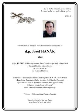 d.p. Jozef HANÁK