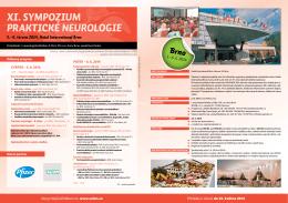 XI. SYMPOZIUM PRAKTICKÉ NEUROLOGIE