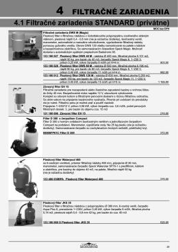FILTRAČNÉ ZARIADENIA 4.1 Filtračné zariadenia