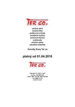 platný od 01.04.2010 - Ter-co