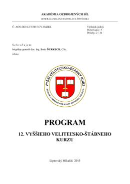 Program VVŠK 12