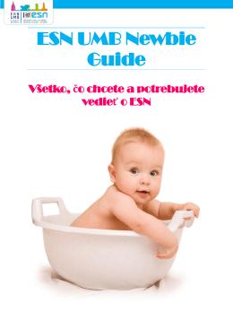 ESN UMB Newbie Guide - ESN UMB Banska Bystrica