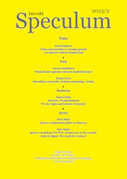 Download:PDF - Speculum - Slovenská asociácia sociálnych