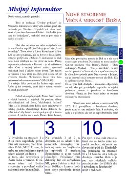 Misijny Informator rocnik 2013 cislo 3