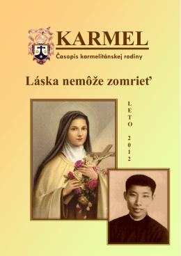 Časopis Karmel -PDF VERZIA