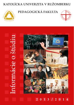 Informácie o štúdiu - Katolícka univerzita v Ružomberku