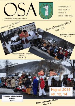 OSA 1/2014 - obec Svätý Anton