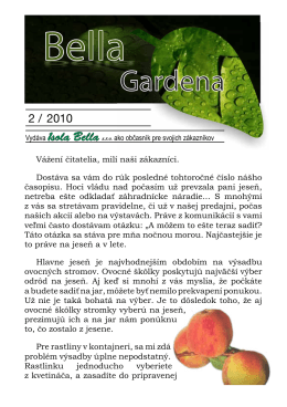 Bella Gardena jeseň 2010 Súbor na stiahnutie