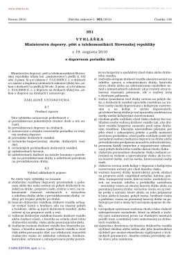 Vyhláška č. 351/2010