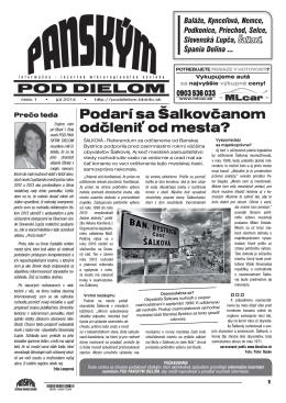 Podarí sa Šalkovčanom odčleniť od mesta?