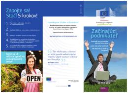 Začínajúci podnikateľ - Erasmus for Young Entrepreneurs