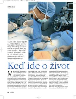 ZdraviaPaulikovaJan2011 - Jednodňová chirurgia pre deti