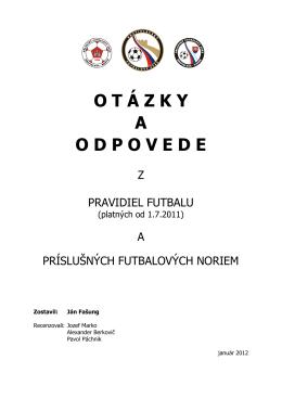 Otázky z PF 2012 - Bratislavský Futbalový Zväz