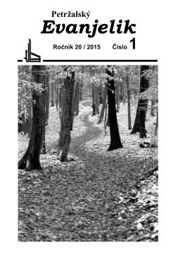 Petržalský evanjelik č. 1/2015 - Cirkevný zbor Evanjelickej cirkvi av