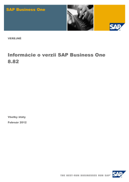 What`s New in SAP Business One 8.82