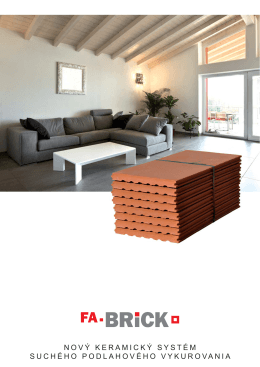 nový keramický systém suchého podlahového - fa