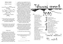Táborový spevník 2010