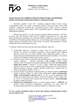 Analýza Istanbulského Dohovoru