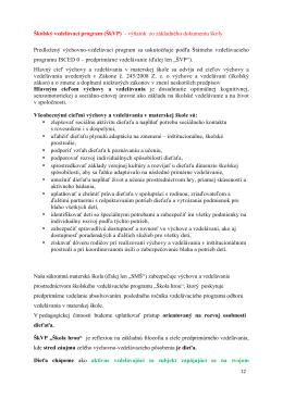 Školský vzdelávací program (ŠkVP)